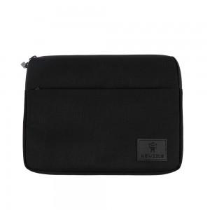 뉴즐 로고지퍼 핸드스트랩 슬림 태블릿 파우치 블랙