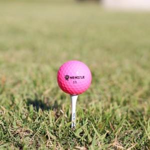 뉴즐 넘버스타 N2 고반발 골프공 핑크 3구